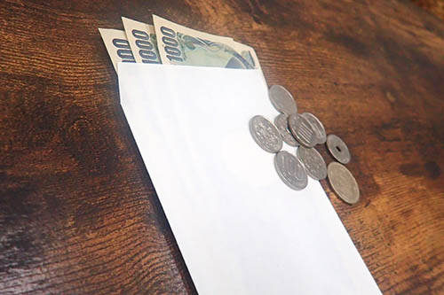 小銭と千円札