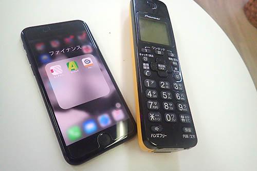 携帯と電話